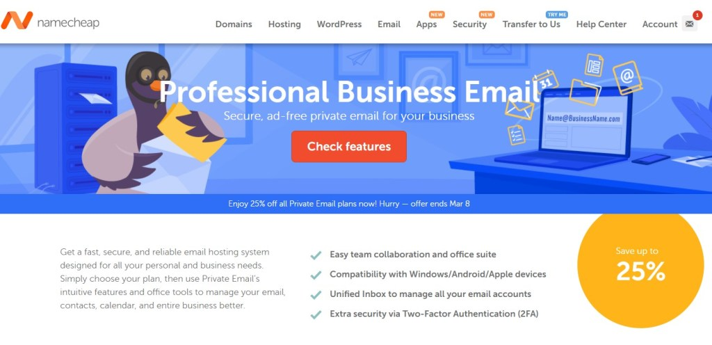 NameCheap Email - Cheapest Business Email Hosting Service For Dropshipping