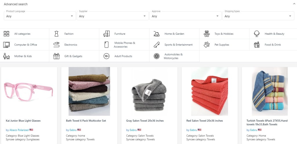 Syncee free Shopify app