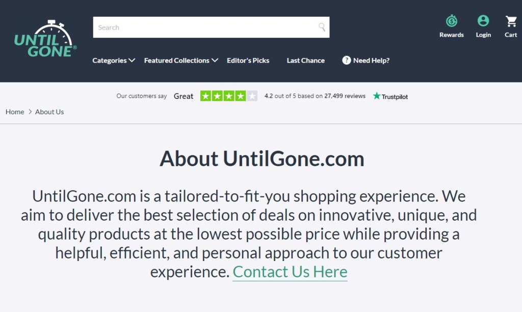 Until Gone about dropshipping
