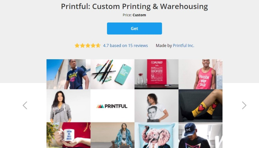 Ecwid print-on-demand apps