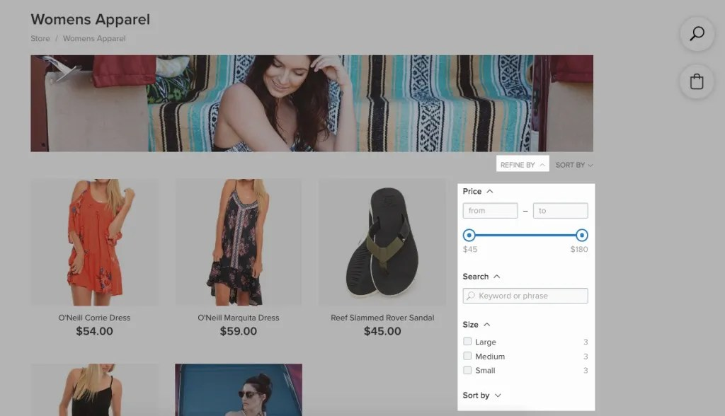 Ecwid product filters