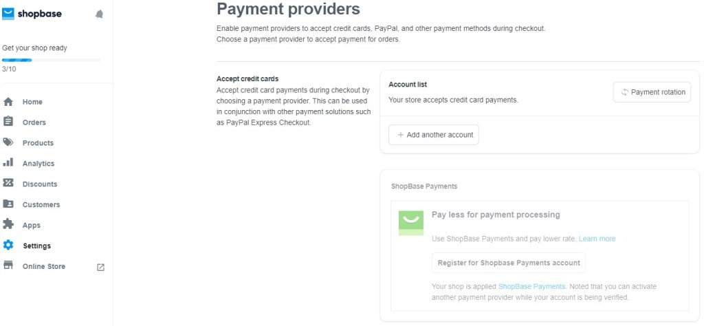 ShopBase payment providers