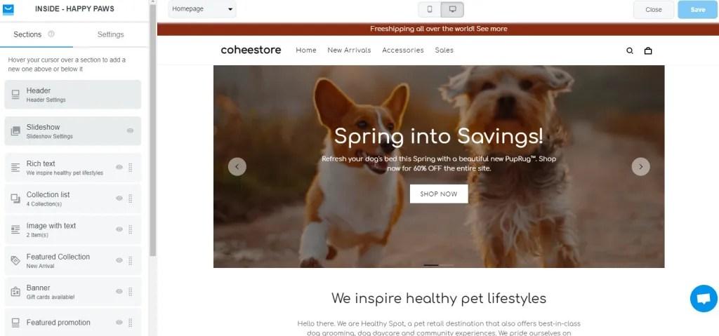 ShopBase theme editor