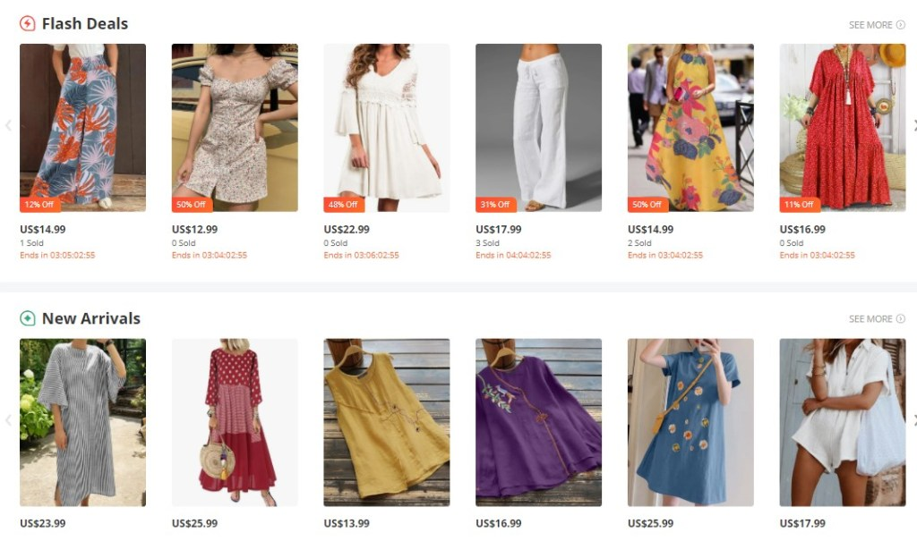 Clothing dropshipping products on Banggood