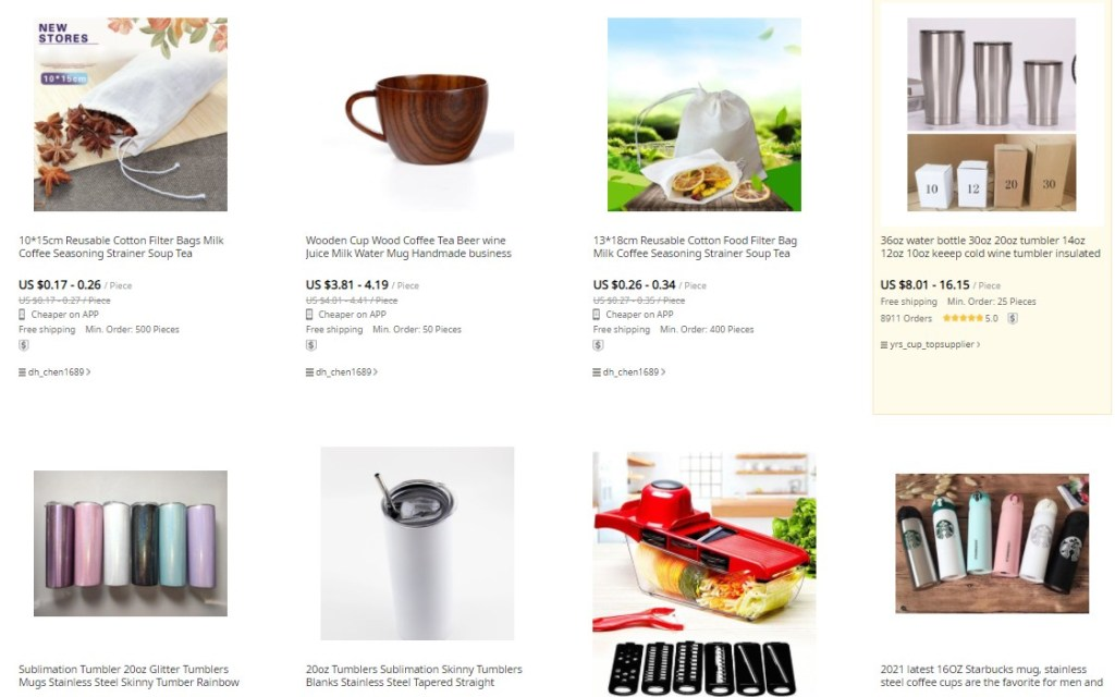 Coffee dropshipping products on DHGate
