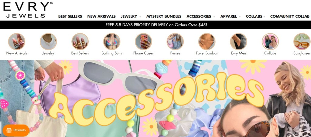 Evry Jewels jewelry dropshipping store