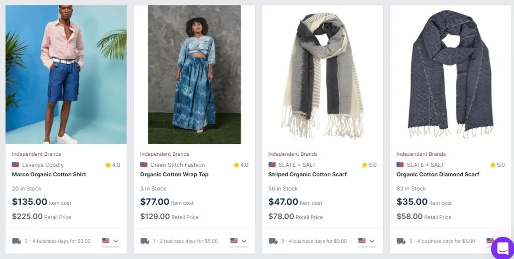 Sustainable clothing dropshipping products