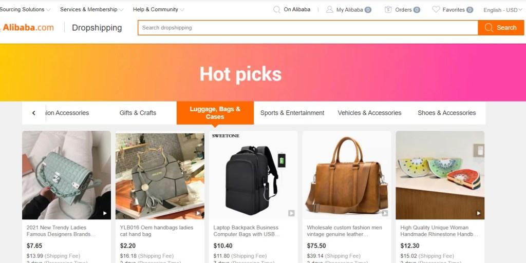Alibaba dropshipping hot picks
