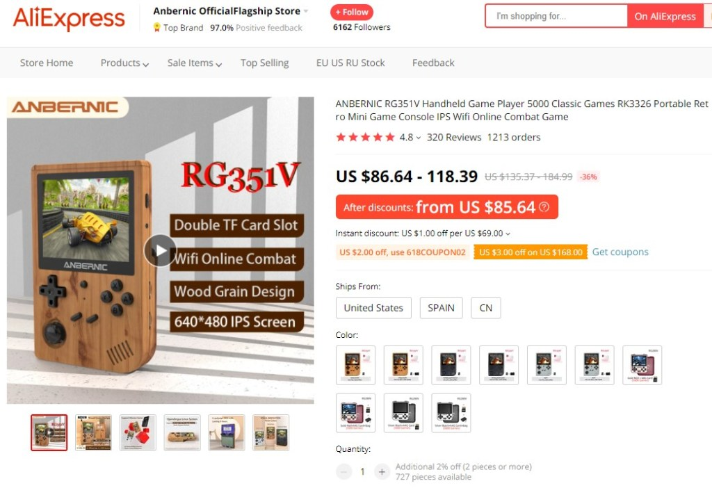 Classic handheld game console high-ticket dropshipping product