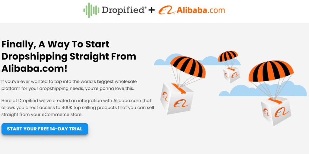 Dropified Alibaba dropshipping app