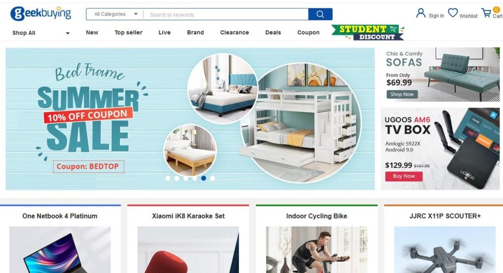 Geekbuying alternative dropshipping platform to Alibaba