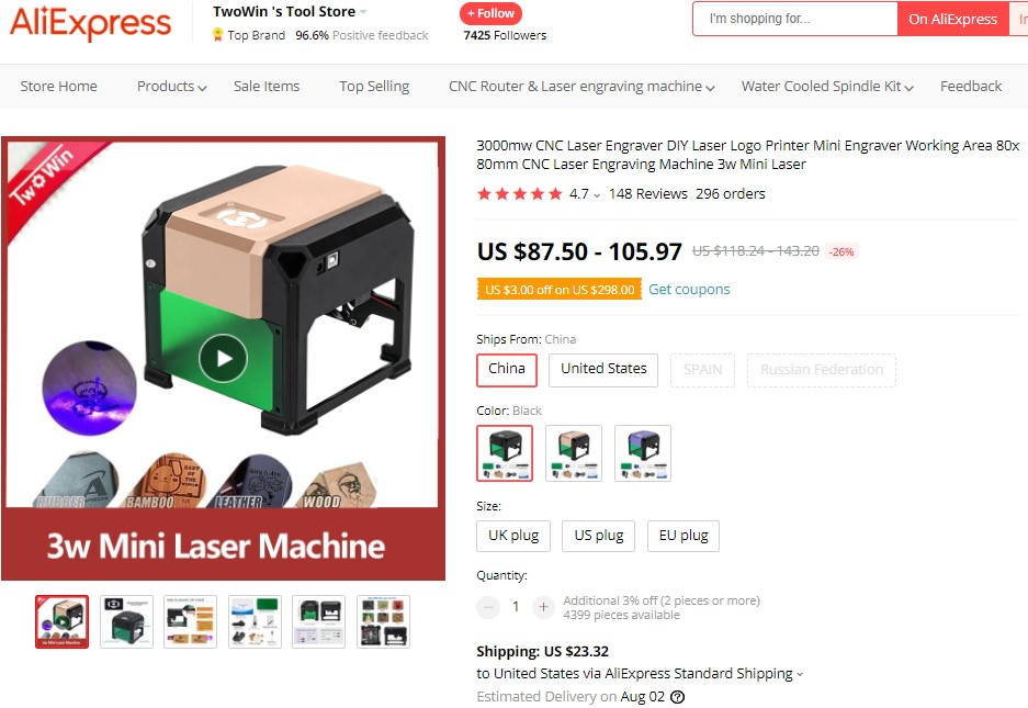 Mini Laser Engraver high-ticket dropshipping product