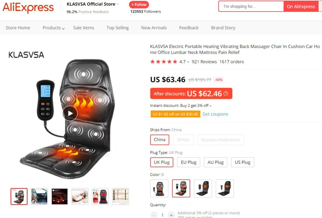 Portable massage chair high-ticket dropshipping product