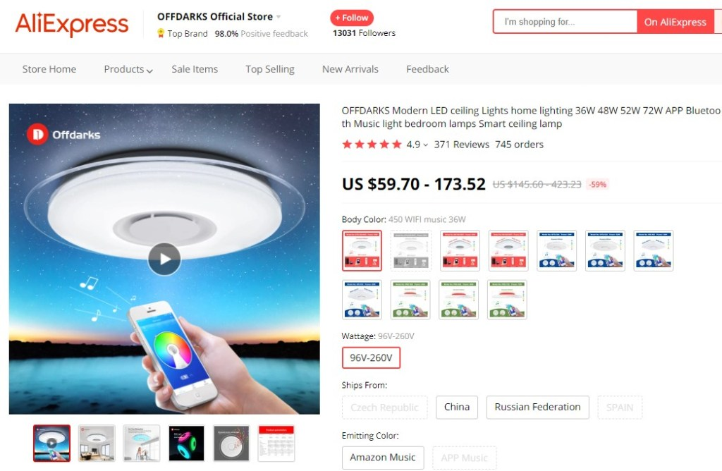 Smart led ceiling light high-ticket dropshipping product