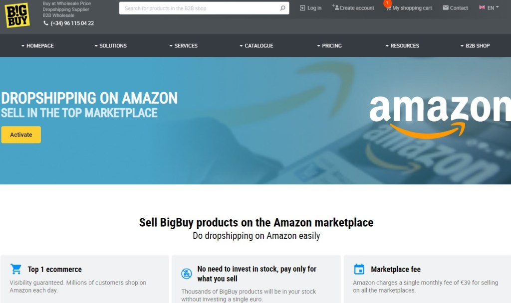 BigBuy non-Chinese dropshipping supplier