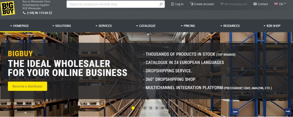 BigBuy - one of the fastest dropshipping suppliers