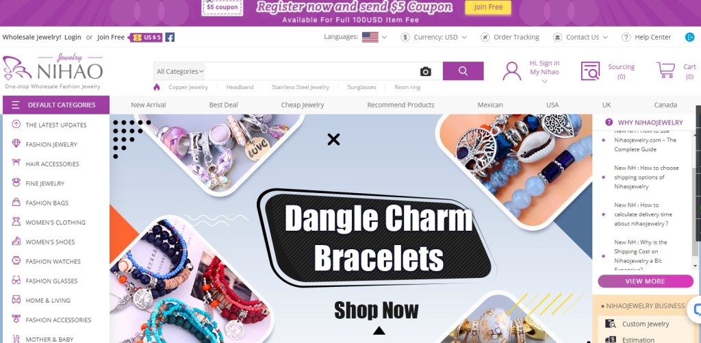 Nihaojewelry - one of the cheapest dropshipping suppliers