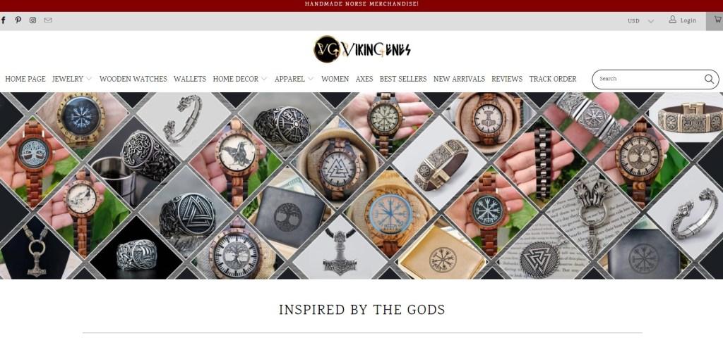 Vikingenes watch dropshipping store