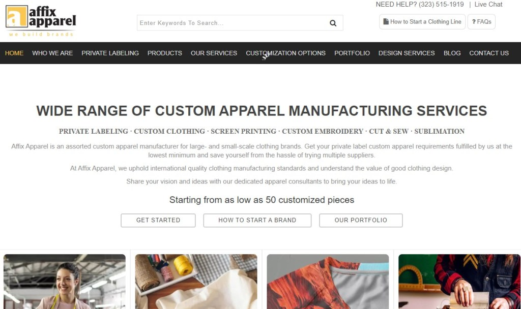 Affix Apparel fashion clothing manufacturer in the US