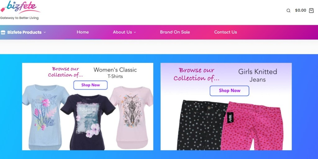 Bizfete New York wholesale clothing vendor & distributor