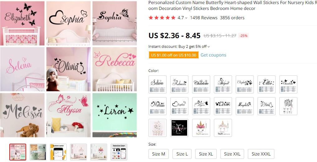 Custom stickers dropshipping product idea