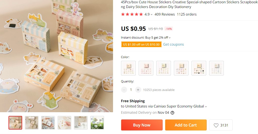 Mini sticker boxes dropshipping product idea