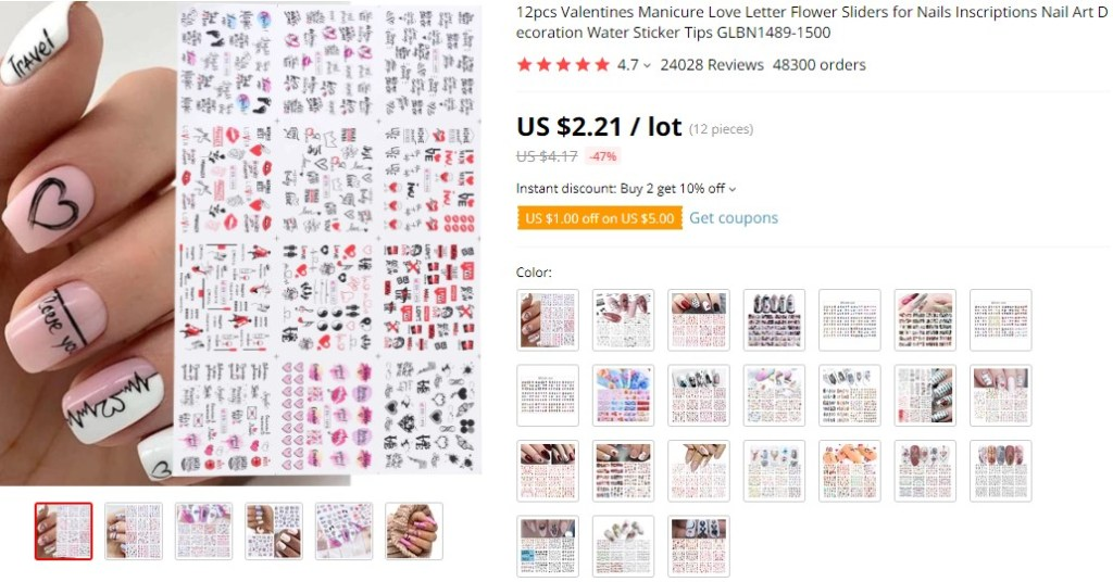 Nail  stickers dropshipping product ideas