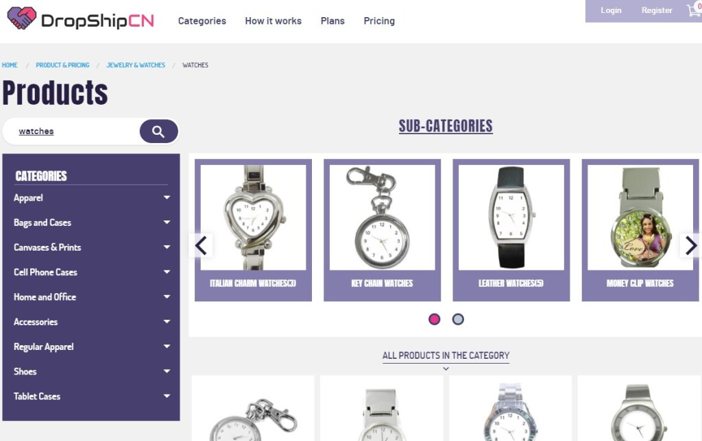 DropshipCN jewelry & watches print-on-demand dropshipping supplier