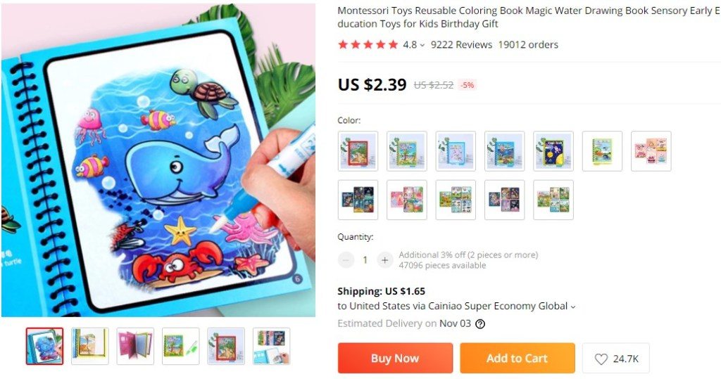 Reusable Water Drawing Books dropshipping product ideas