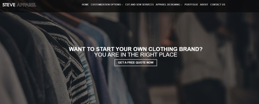SteveApparel fashion clothing manufacturer in the US