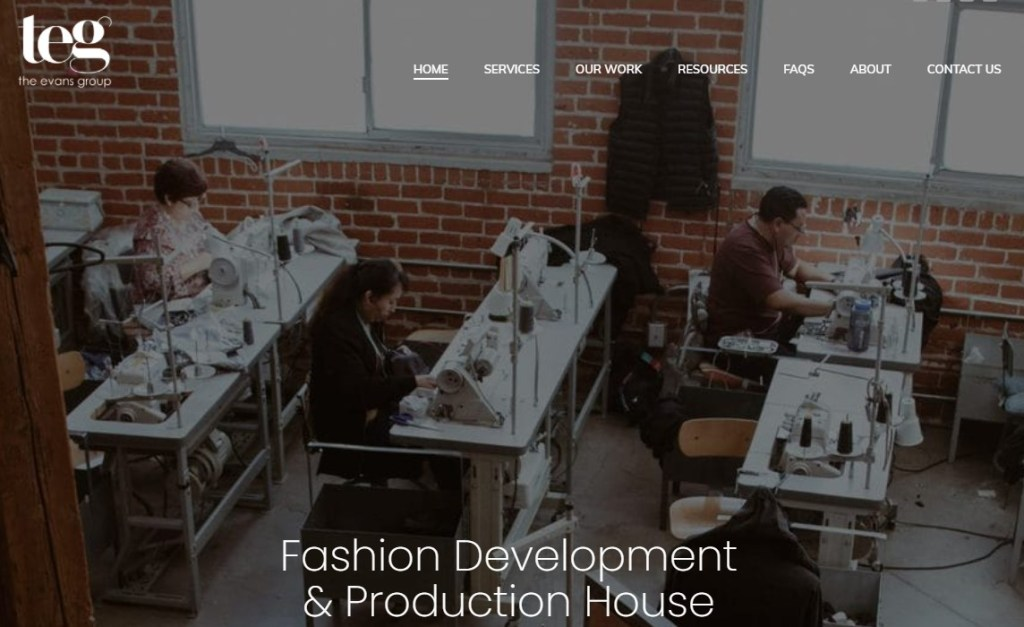 The Evans Group fashion clothing manufacturer in the US