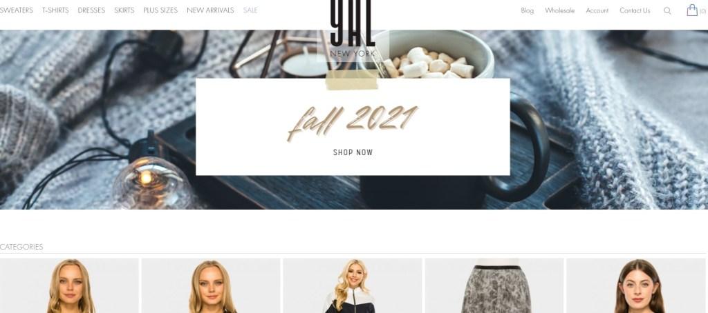 YalNewYork New York wholesale clothing vendor & distributor