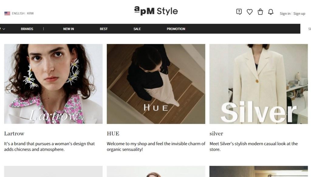 APM Style Korean fashion clothing wholesale supplier