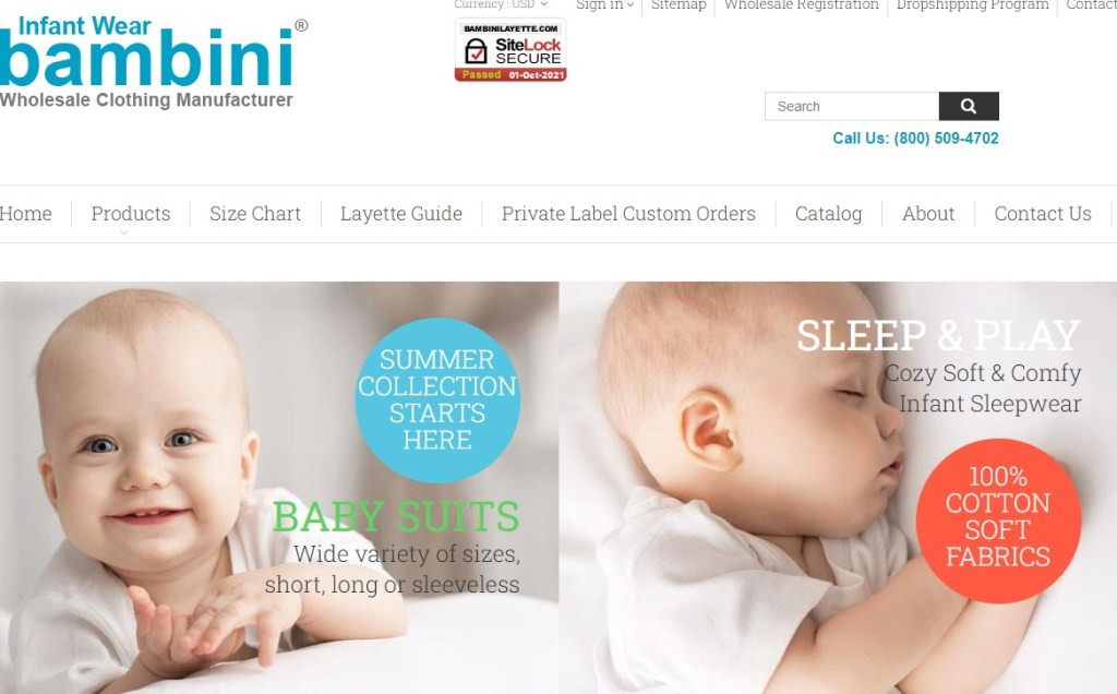 Bambini Layette US wholesale dropshipping supplier