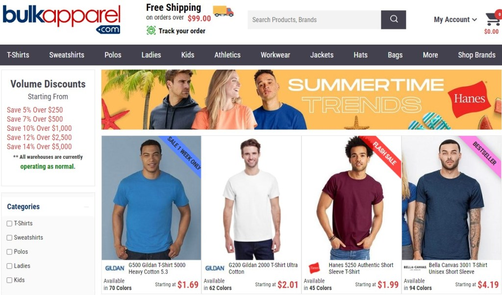 Bulk Apparel cheap fashion clothing wholesaler