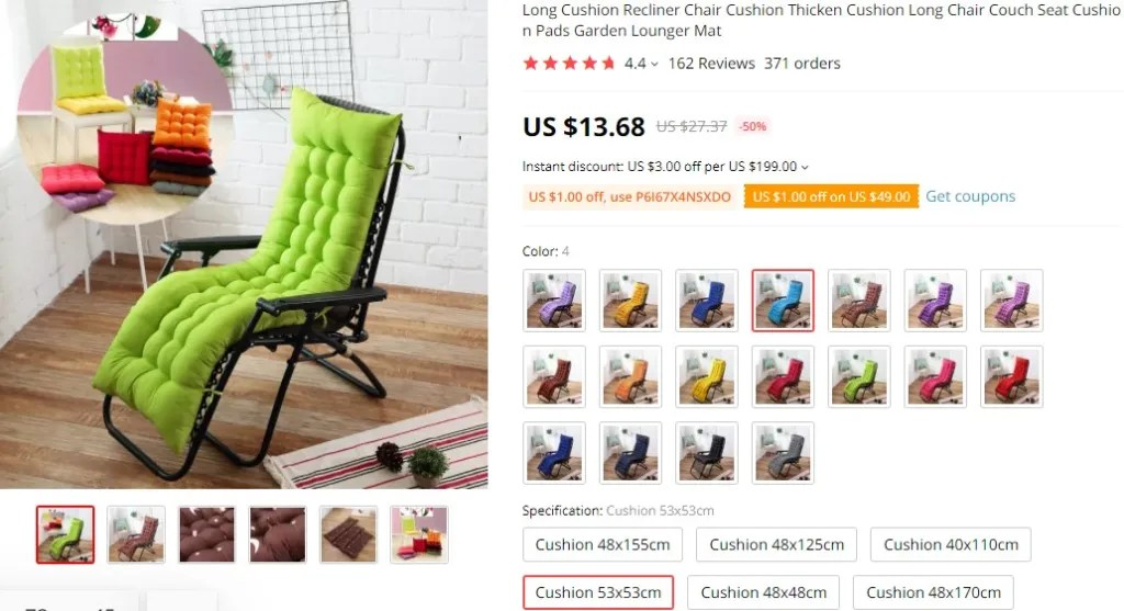 Long cushion furniture dropshipping product idea