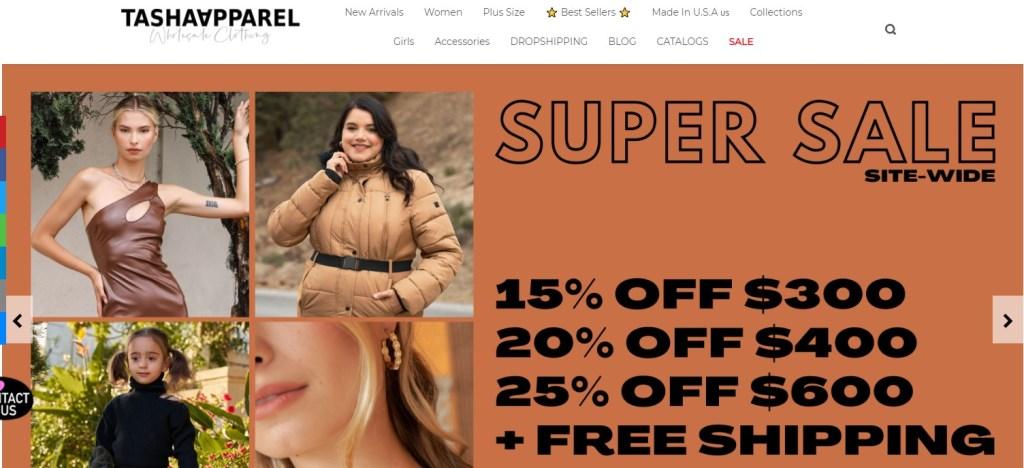 Tasha Apparel cheap fashion clothing wholesaler