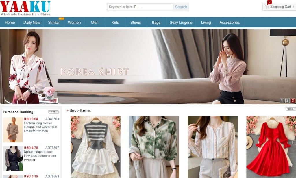 Yaaku cheap fashion clothing wholesaler