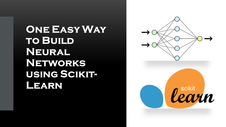 Neural Networks with Scikit-Learn and Python