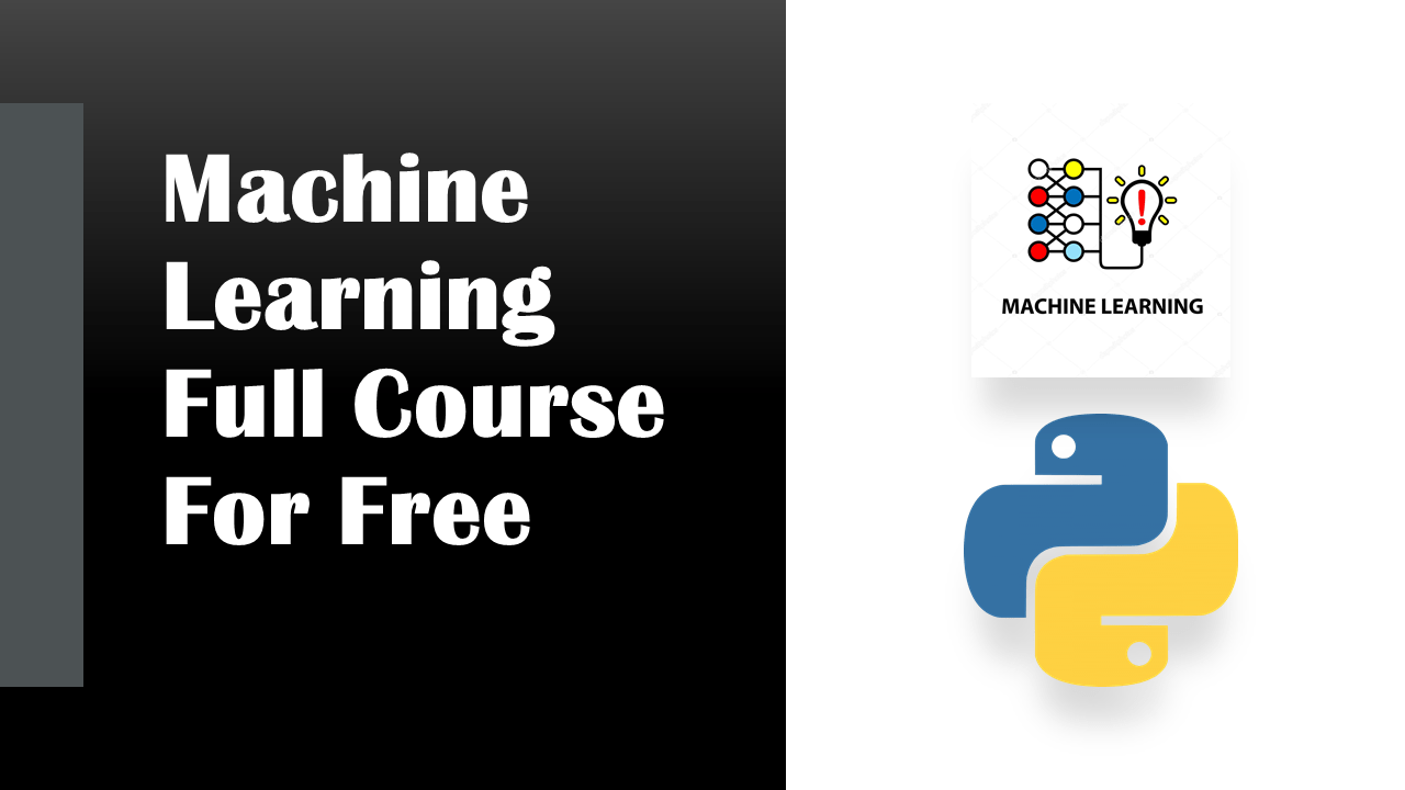 Machine Learning Course | Data Science | Machine Learning | Python