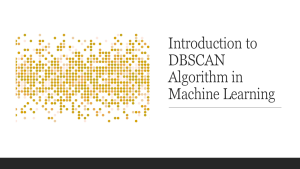 DBSCAN Algorithm in Machine Learning