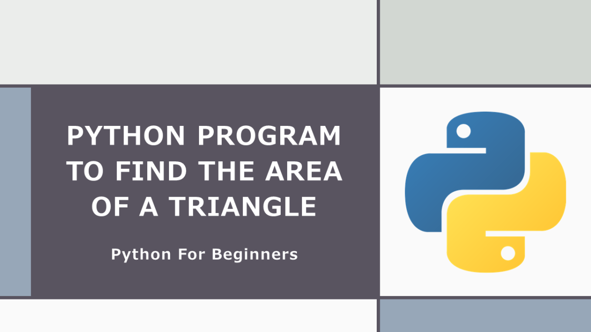 Area of Triangle with Python