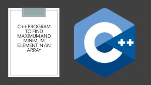 Maximum and Minimum in an Array using C++