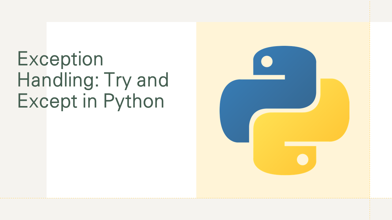 Try and Except in Python
