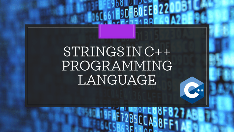 Strings in C++