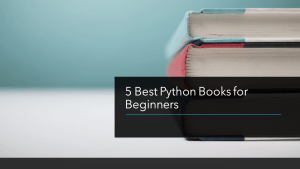 Best Python Books for Beginners