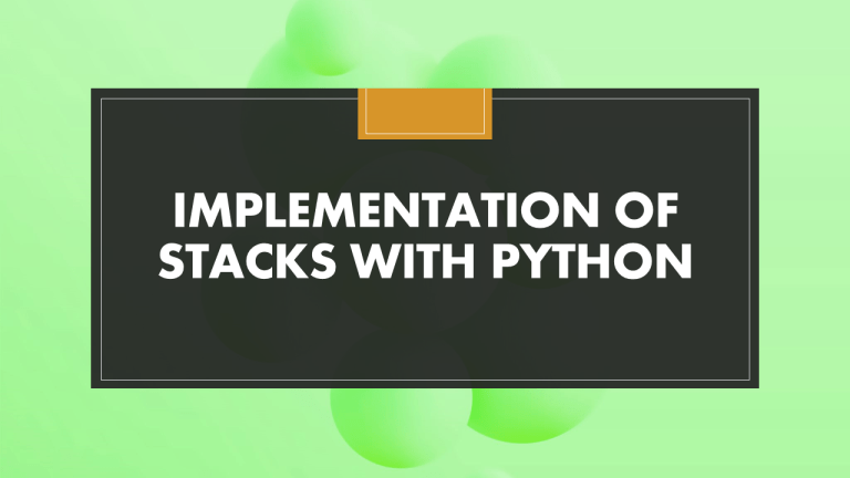 Stack with Python