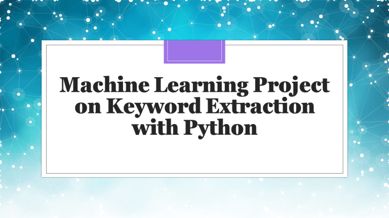 Keyword Extraction with Python
