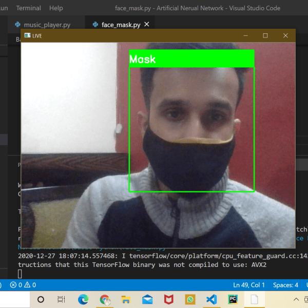real-time face mask detection