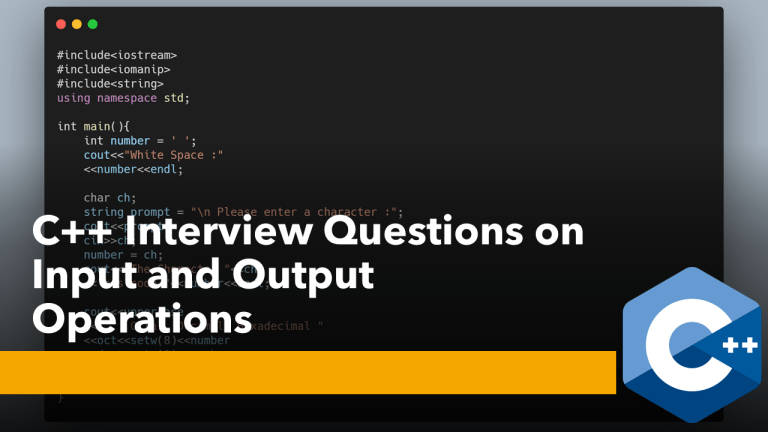 C++ Interview Questions on I/O Stream